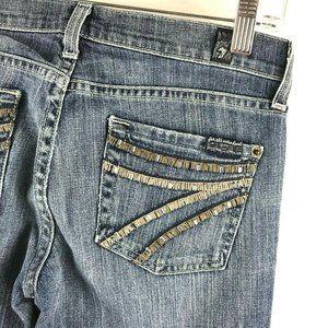 7 For All Mankind Dojo Jeans Flare Leg Embellished